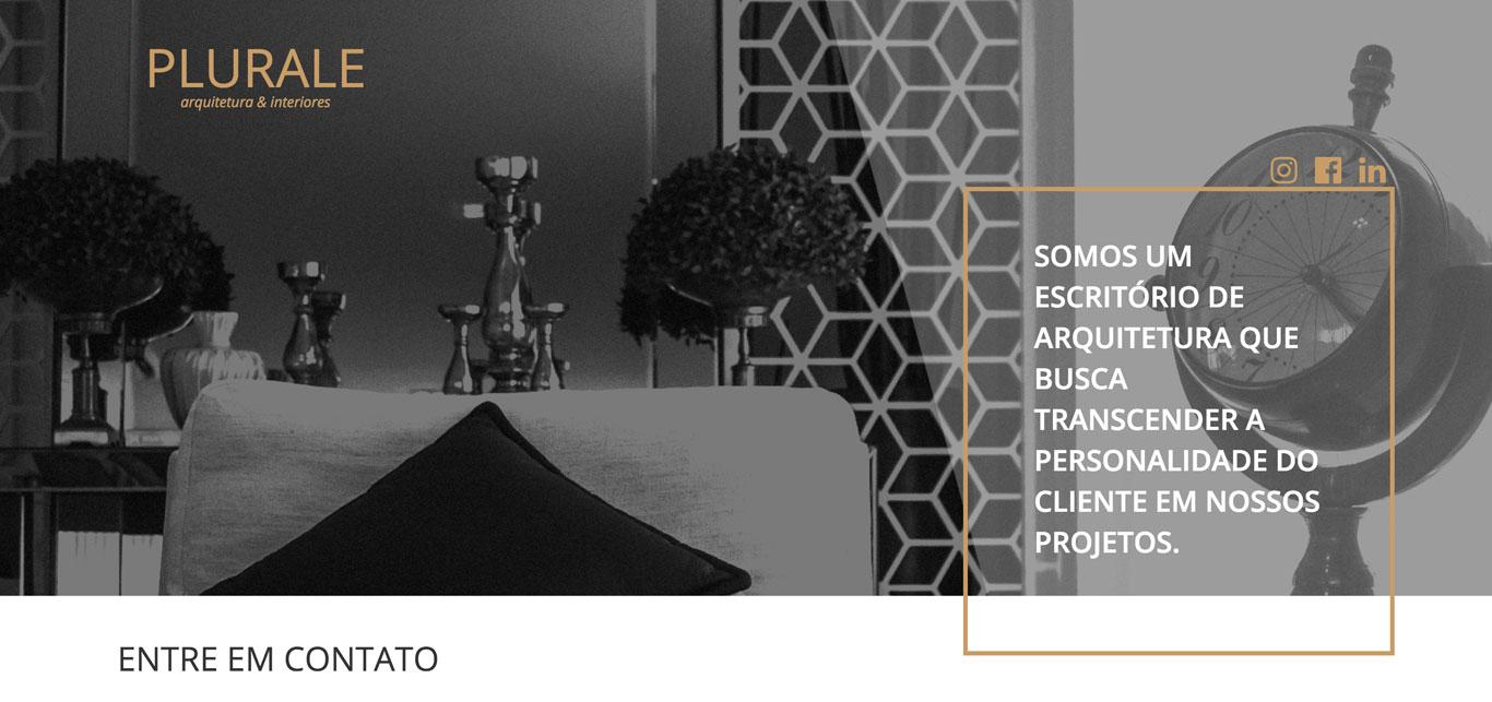 Imagem do site do site Plurale Arquitetura